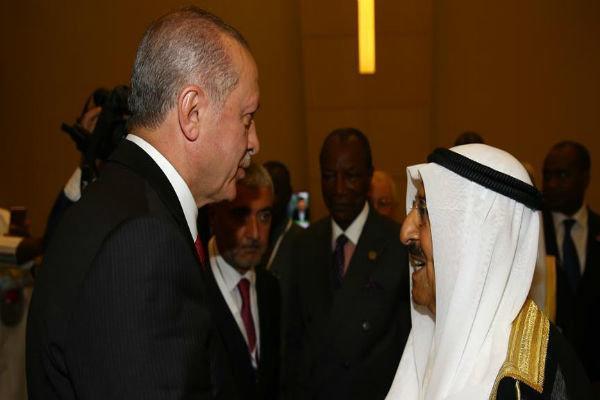 گفتگوی امیر کویت و اردوغان درباره مسائل دوجانبه