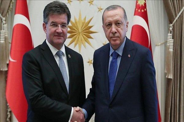 اردوغان با رئیس هفتاد و دومین مجمع عمومی سازمان ملل دیدار کرد