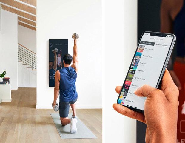 آینه ای که در خانه با شما ورزش می نماید