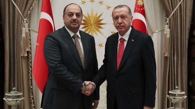 دیدار اردوغان با وزیر دفاع قطر در آنکارا