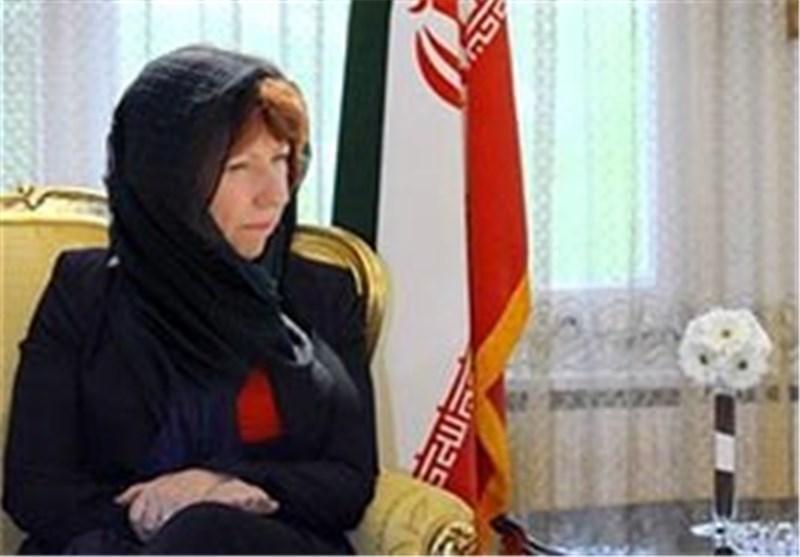 کاترین اشتون اصفهان را به مقصد عمان ترک کرد
