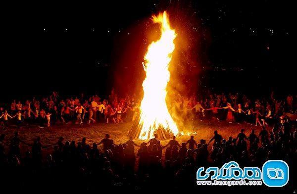 جشن سده در پنجاه قدمی نوروز ، آیین باستانی سده سوزی