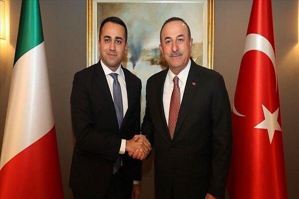 وزرای خارجه ترکیه و ایتالیا مصاحبه کردند