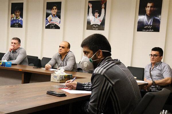 جلسه رئیس فدراسیون کشتی با محمد بنا و غلامرضا محمدی