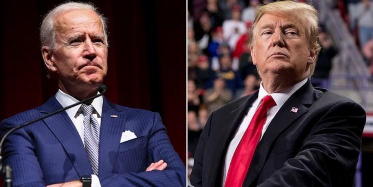 رجحان مجدد بایدن بر ترامپ در تازه ترین نظرسنجی ها در آمریکا