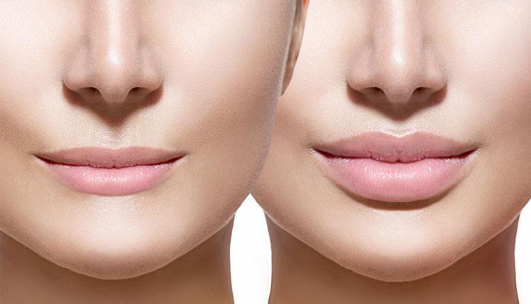 آموزش آرایش لب باریک