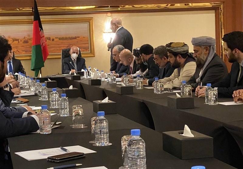 ملاقات اشرف غنی با تیم مذاکره کننده دولت افغانستان
