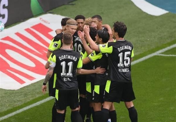بوندس لیگا، دورتموند با یک پیروزی قاطع به رده پنجم جدول صعود کرد
